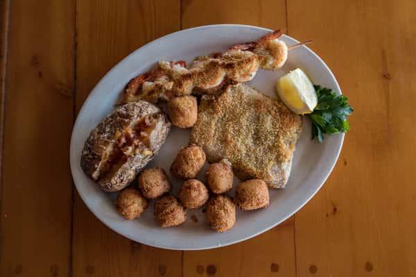 Parmesan Crusted Fish And Shrimp