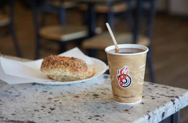 coffee bagel