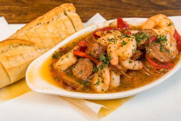 Garlic Shrimp & Andouille