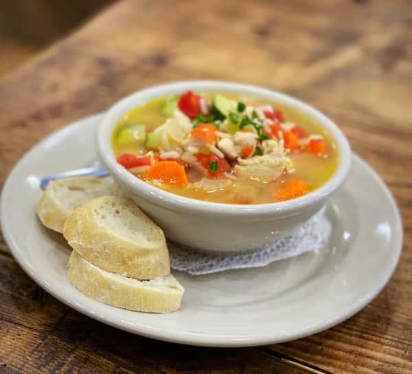 Chicken & veggie Soup