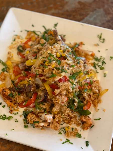 Fajita Rice with Steak