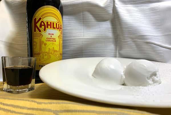Gelato al Cocco e Liquore Kahlua