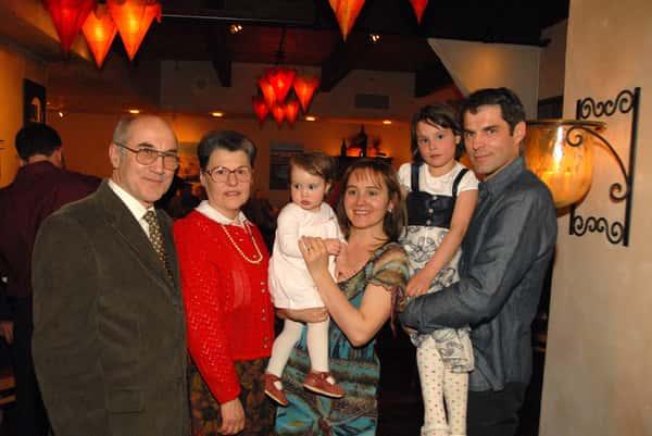 family at restaurant