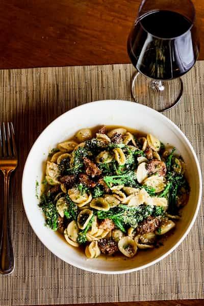 pasta with wine