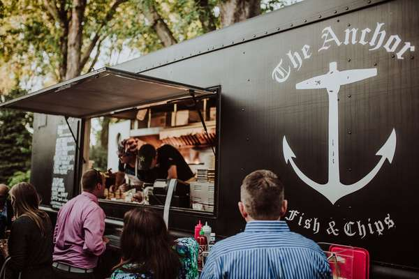 Wedding food truck catering