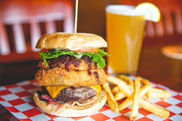 Western bacon burger