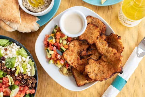 Air-Baked Chicken Strips (Schnitzel) - Bowl