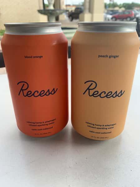 Recess Sparkling Water - CBD - Blood Orange