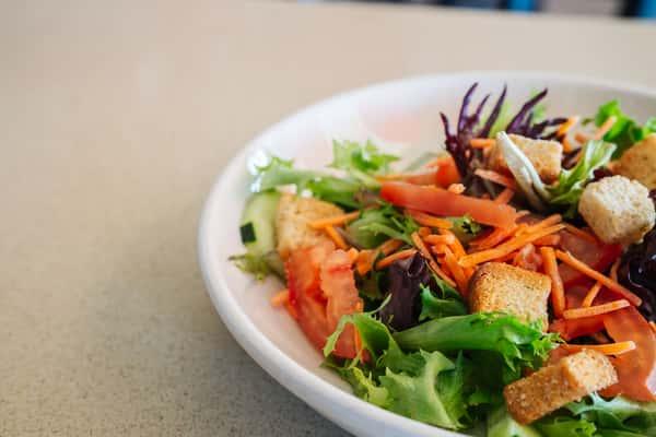house salad at the sidewalk cafe