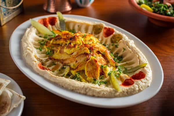 Chicken Hummus Shawarma