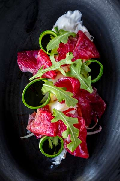 Beet Cured Salmon