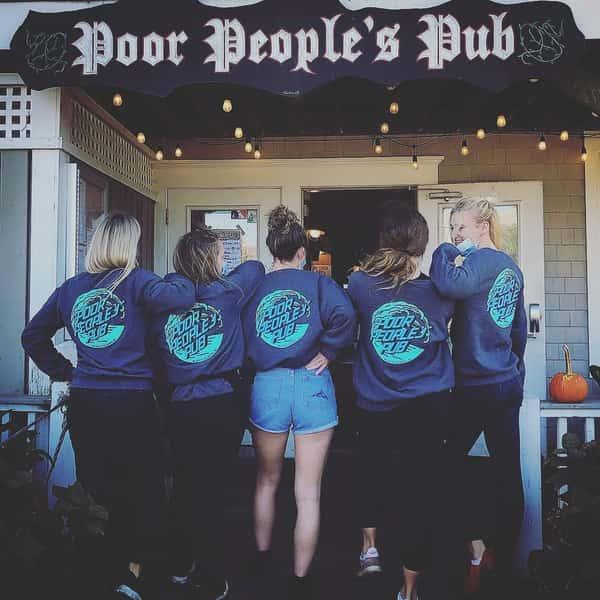 servers in poor peoples pub shirts