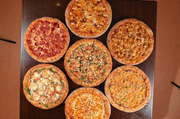 Multiple pizzas