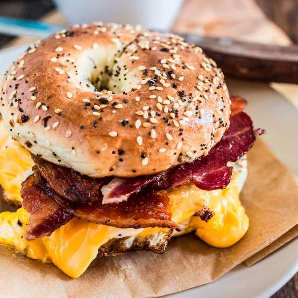NY bacon egg and cheese sandwich
