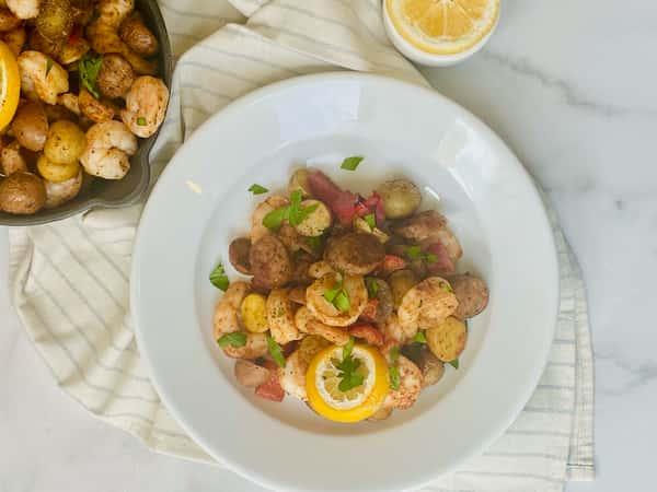 Cajun Sheet Pan Shrimp Meal