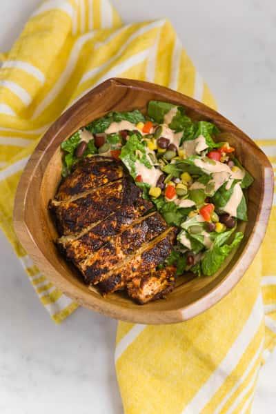 smokey caesar salad