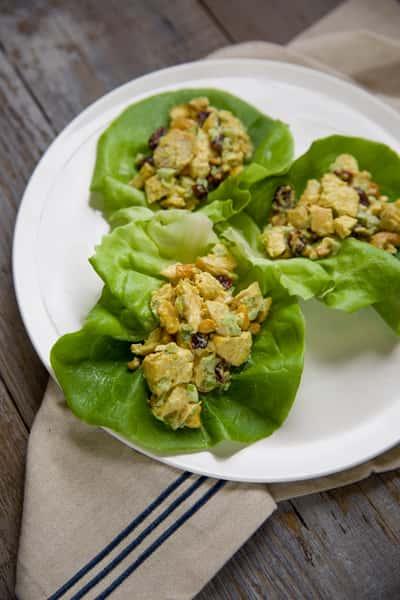 chicken salad wraps - curried