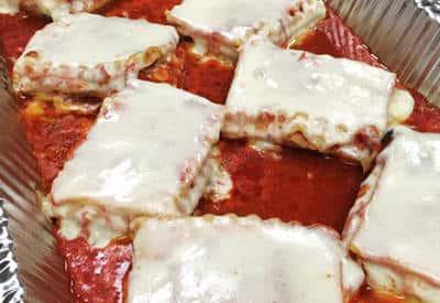lasagna with red sauce