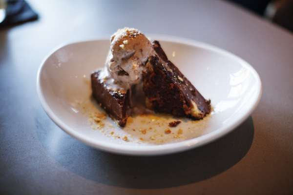 Warm Fromage Blanc Brownie