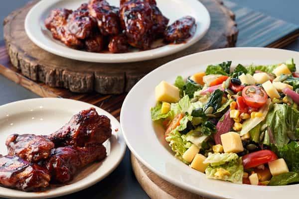 Salad & Wings