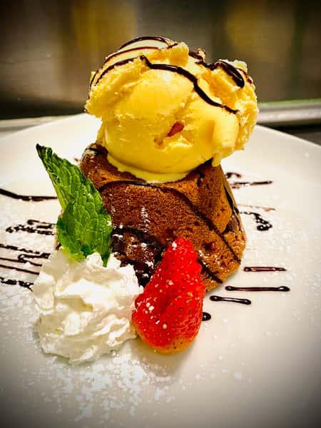 Molten Lava Chocolate Chip Cookie