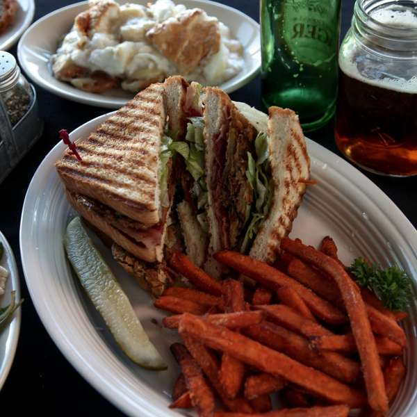 Sandwich with Sweet Potato Fries