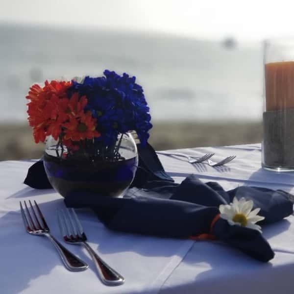 tablescape on beach