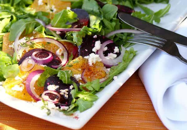 spring organic salad