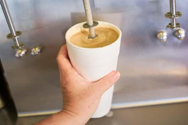 making a shake