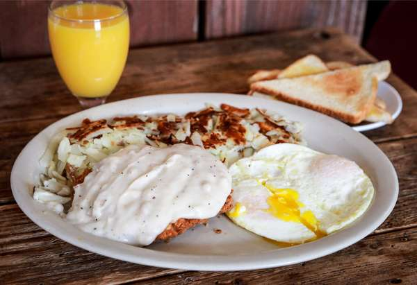 Country Fried Steak & Eggs*