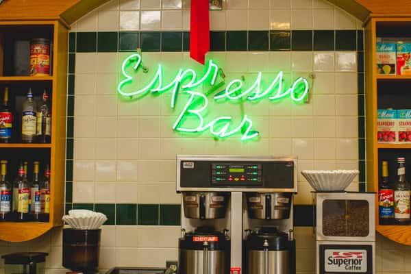 interior sign - espresso bar