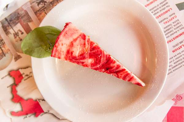 Strawberry Swirl Cheese Cake