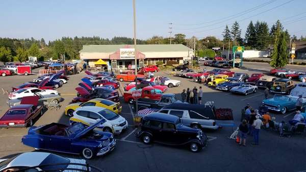 parking lot of cars