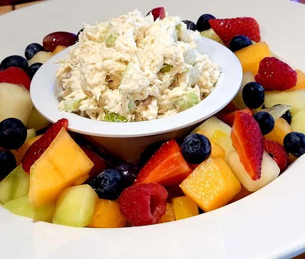 Tuna Salad Over Fresh Fruit