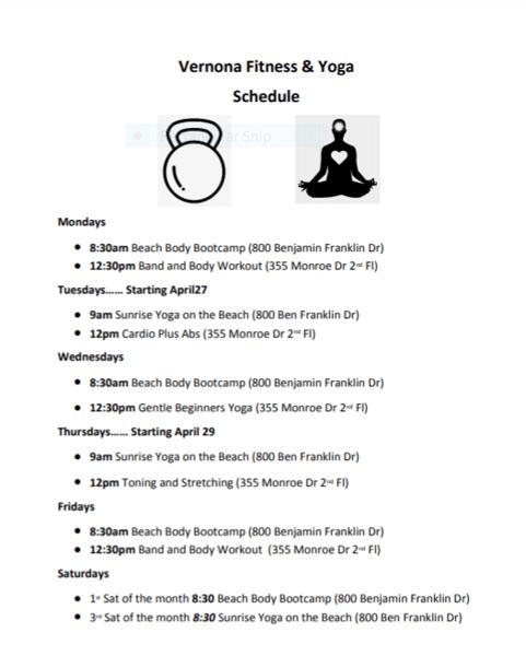 Fitness Studio Schedule