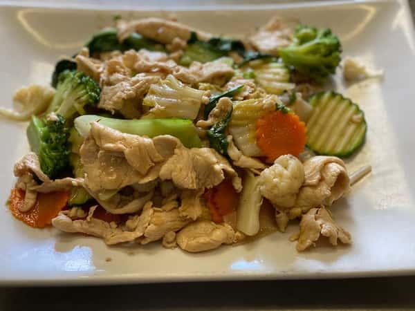 Hu Tieu Xao: (Stir-fry Rice Noodles)