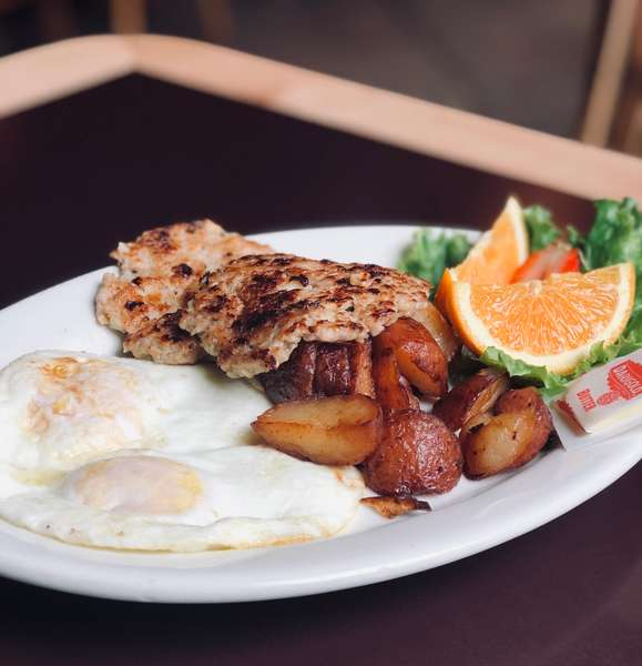 Two Eggs - Any Style with Simple Simon's Homemade Chicken Apple Sausage