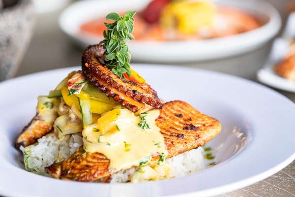 Aji seafood plate