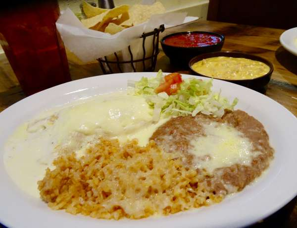#1 Sour Cream Enchilada- Beef or Chicken