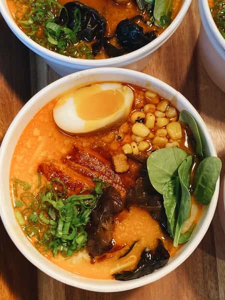 two ramen bowls