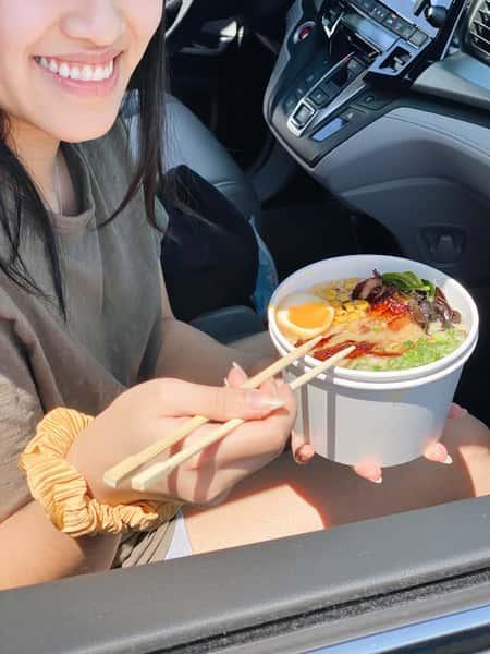 ramen and chopsticks