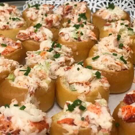 Mini Lobster Salad Brioche Bowls