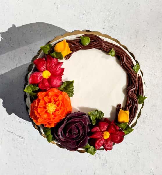 "Thanksgiving Wreath Cake 6"""