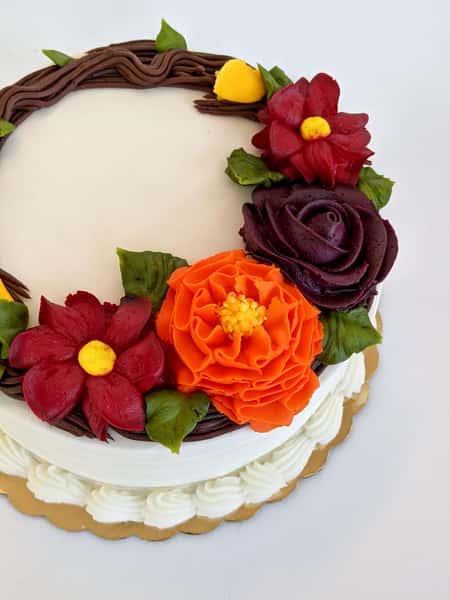 "Thanksgiving Wreath Cake 8"""