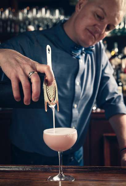 pouring drink