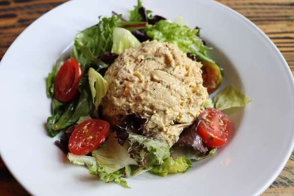 SMOKED CHICKEN SALAD WITH TOASTED PECANS