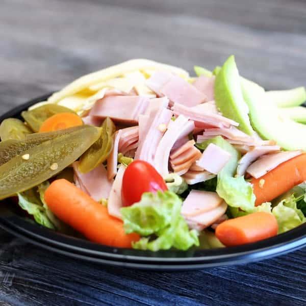 turkey with ham sandwich