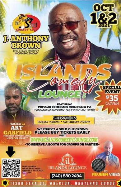 Special Event: Islands Comedy Lounge featuring J. Anthony Brown