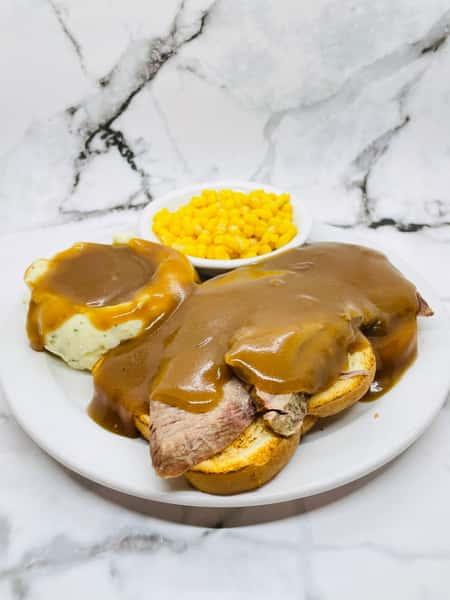 Hot Open-Faced Roast Beef