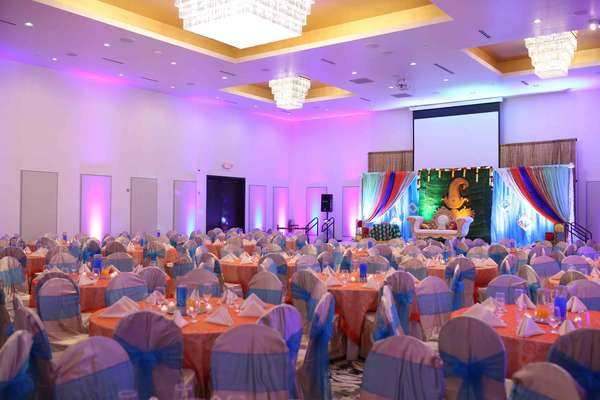 banquet space decorated
